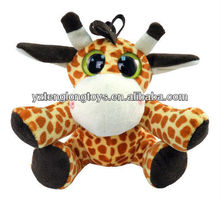 "Giraffe Big Eyes Plush Toy 6"" Stuffed Animal"