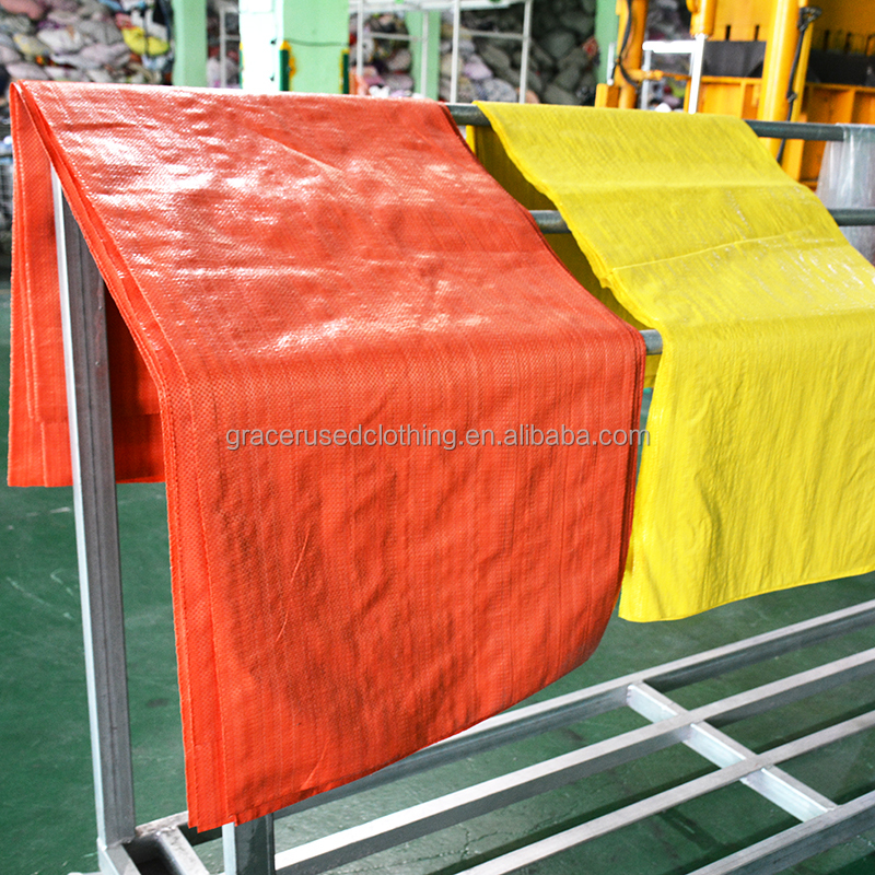 China wholesale cheap price red 50kg pp woven bag for used cloth flour <strong>rice</strong> fertilizer feed sand