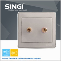 Smart Media HUB with audio video sockets/Metal Wall Socket Plate, 3.5mm Audio Switched Socket