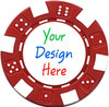 customised personalized poker chips with brand printing