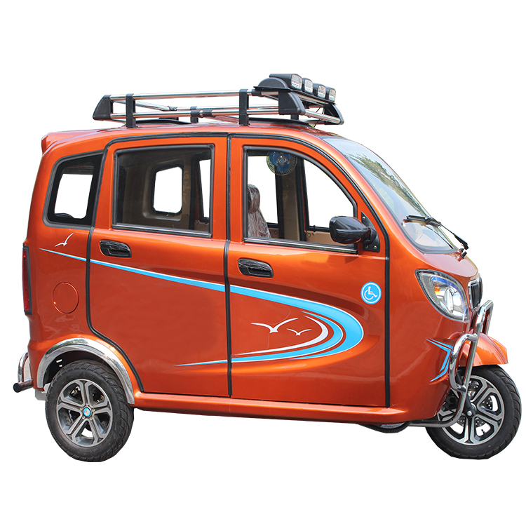 2018 Top quality 200CC enclosed carbin gasoline motor tricycle