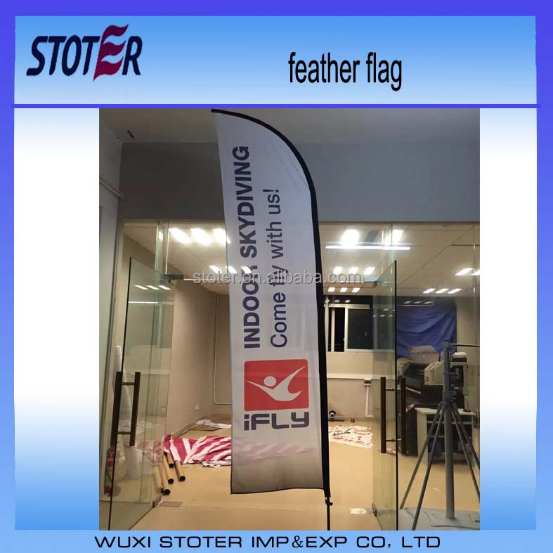 advertising beach flag/flying banner for promotion promotional customised beach flag outdoor advertising banner flag