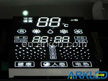 Customised 7 segment LED display for water heater
