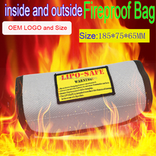 Newest Square LiPo Safe Battery Charging Box Guard Bag Sack Pouch Fire Resistant 185x75x60mm For RC Battery