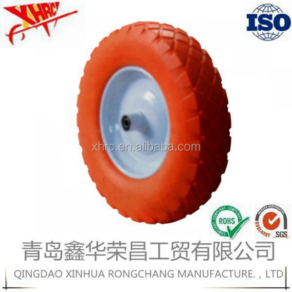 "large solid pu foam wheel for wheelbarrow 16""x 4.00-8"