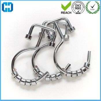 Bathroom Decoration Stainless Steel Rustproof Double Glide Shower Curtain Ring Hook