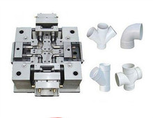 PPR pipe fitting mould of over cross with cavities