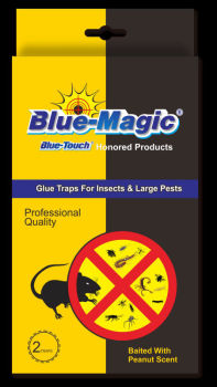 Blue-Magic rat glue glue trap for rats mice and black plastic bait board easy set mouse trap
