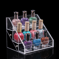 3 tier desktop acrylic nail polish holder, lucite makeup organizer, perspex nail polish display stand