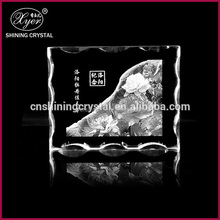 2015 Xyer light base crystal led glass 3d laser beauty picture photo printing on crystals