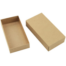 <strong>Ten</strong> sizes Brown kraft paper packaging box with lid