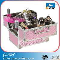 Aluminum hair stylist pink salon beauty tool case