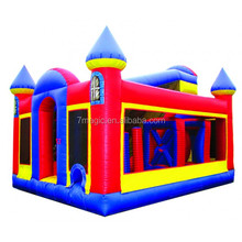 Hot Selling Red&Black Inflatable Sport Games , Inflatable obstacle Course for Adult