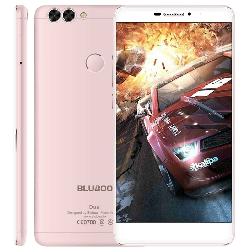 BLUBOO Dual Smartphone Android 6.0 MTK6737T Quad Core 2G+16G 8MP 13MP Dual Back Cameras Fingerprint 5.5 Inch FHD 4G Mobile Phone