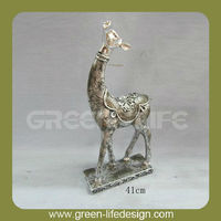 Desk decoration resin small deer figurines
