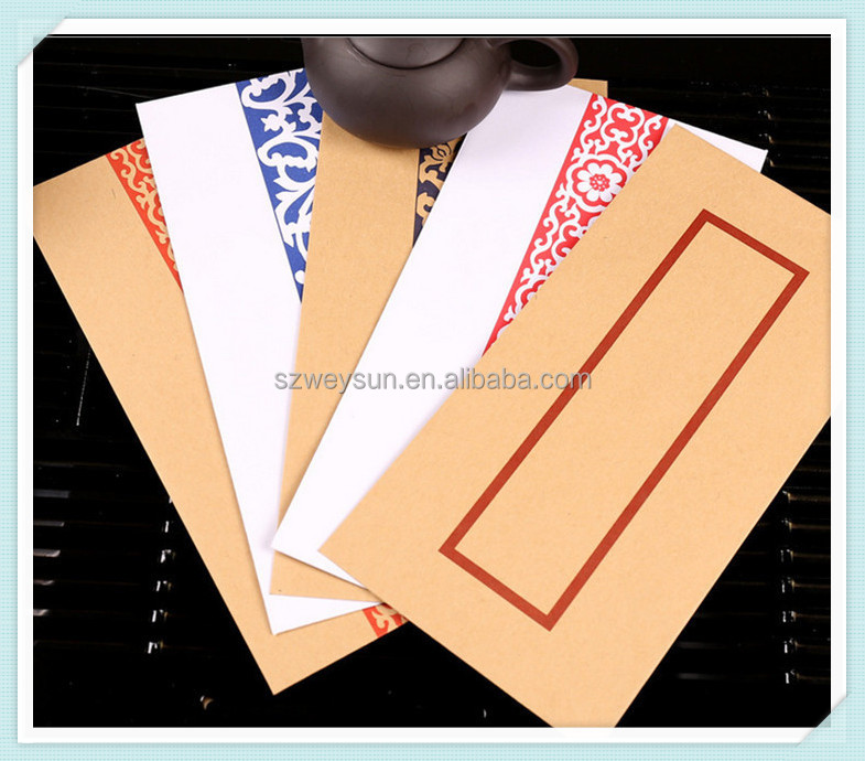 The traditional Chinese style envelope double gummed paper kraft paper envelopes