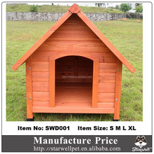 Manufacture price high quality outdoor wooden dog kennel wholesale