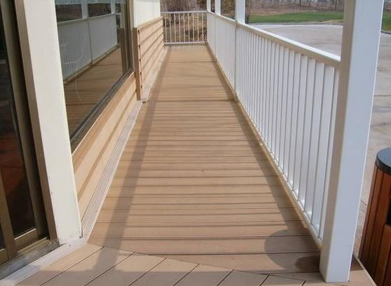 WPC floor for corridor wood grain decking tile / WPC handrail