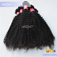 2016 Full Cuticle Hot Selling Product High Quality 100% Brazilian Kinky Curly Human Hair Weave Bundles