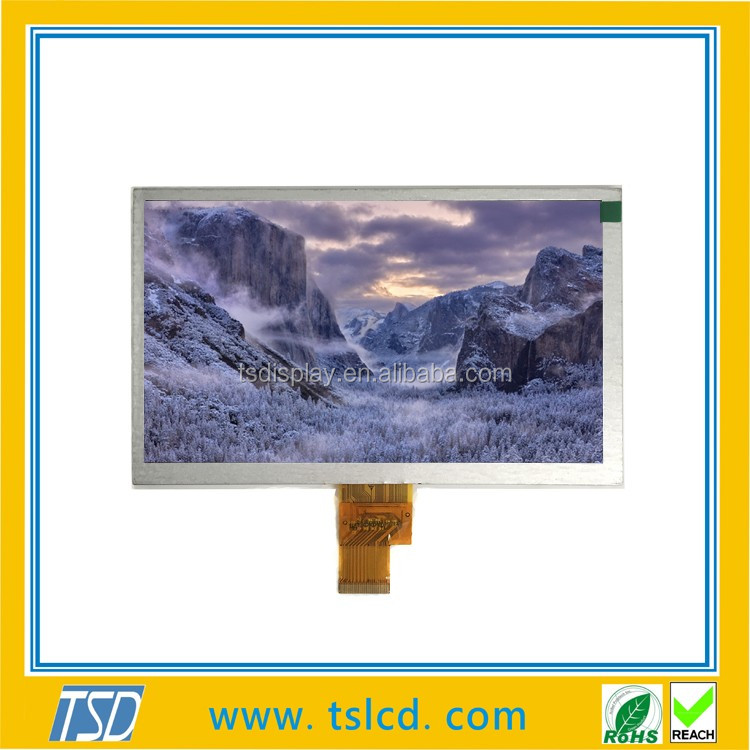 Hot sale LCD supplier 8 inch TFT screen 800x480 with resistive touch screen & TTL interface for medical equipment