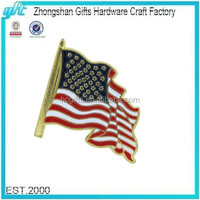 Free Quote Promotional Gift Custom Enamel Waving USA Flag Lapel Pin