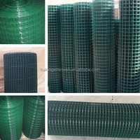 1/2 inch galvanized welded wire mesh/ 1 inch PVC coated wire mesh