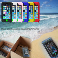 New Arrival Hot Sale For iphone 4 4s 5 5s 5c Waterproof Case Paypal Accepted