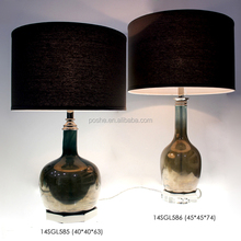 Manufacturer Popular Price China Glass Luxury Handmade Brown Square Lamp Shades