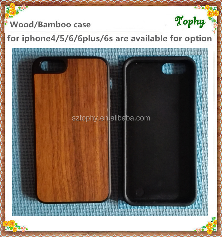 2016 for wood iphone case for wooden iphone 6 6s case TPU high quality full protective fashionable design factory