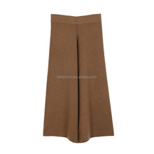 New fashion women casual wide legging trousers high waist palazzo pants