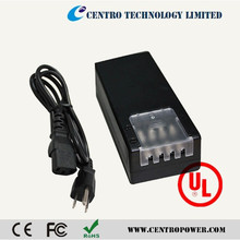 multiple output power supply 12v 5a 60w ac dc adapter with UL CE approved for CCTV