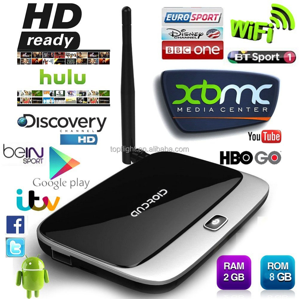CS918 Full HD <strong>1080P</strong> RK3188T Quad Core TV Media Player Youtube Youporn Movie Game 2GB/8GB XBMC KODI IPTV Android Smart TV Box