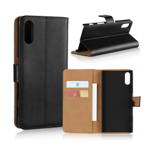 Real Genuine Wallet Leather PC Hard Back Cover Phone Case For Sony Xperia L1, L S36H,SP, T3,M, M2 S50H,M4 Aqua,M5