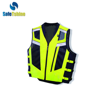 Customizable fluo-Green hi vis tank tops horse riding safety vest