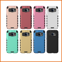 Hybrid tpu pc mobile phone cover for samsung galaxy S7 case