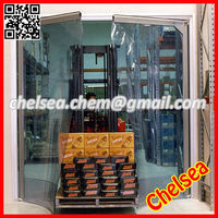Commercial double wing flexible pvc swing door