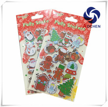 3D Customized Christmas Cartoon PVC Printing Puffy Stickers for Kids