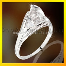 hand made silver ring, 925 sterling silver big stone fashion ring jewelry wholesale in China