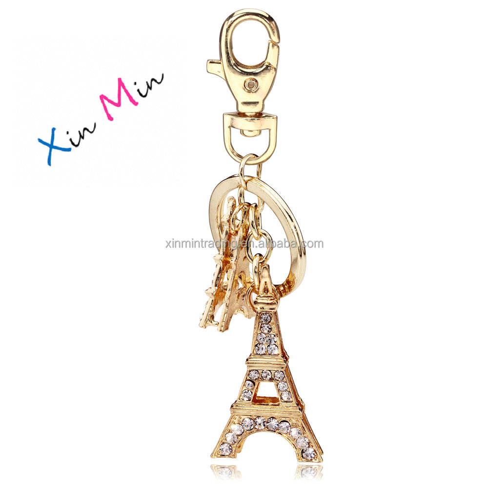 Customized 3D Paris Souvenir Eiffel Tower Keychain XMT1023
