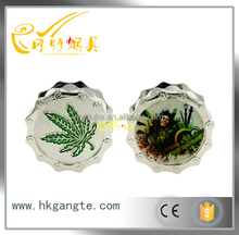 GT5057 Bearing chain shape picture priting 3layer zinc alloy tobacco grinder / tobacco grinder OEM