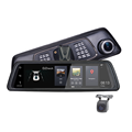 "10"" full touch screen  vehicle blackbox dvr user manual 4g dual camera car dvr with WIFI Bluetooth ADAD and GPS navigation"