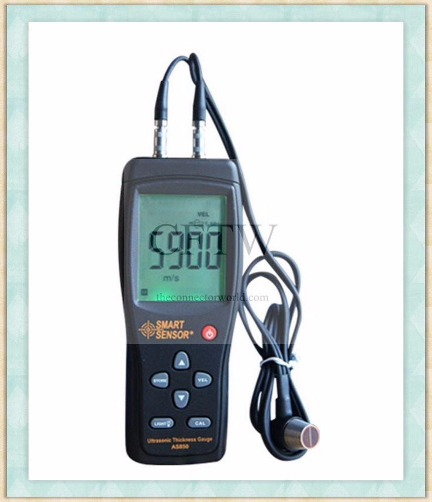 Digital Ultrasonic Thickness Meter Tester Gauge Metal Tester with Corrosion Probe,Range 1.20 -225.0 mm(Steel)