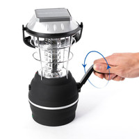 36 LED solar light parts LED Solar Camping Lantern with Hand Crank