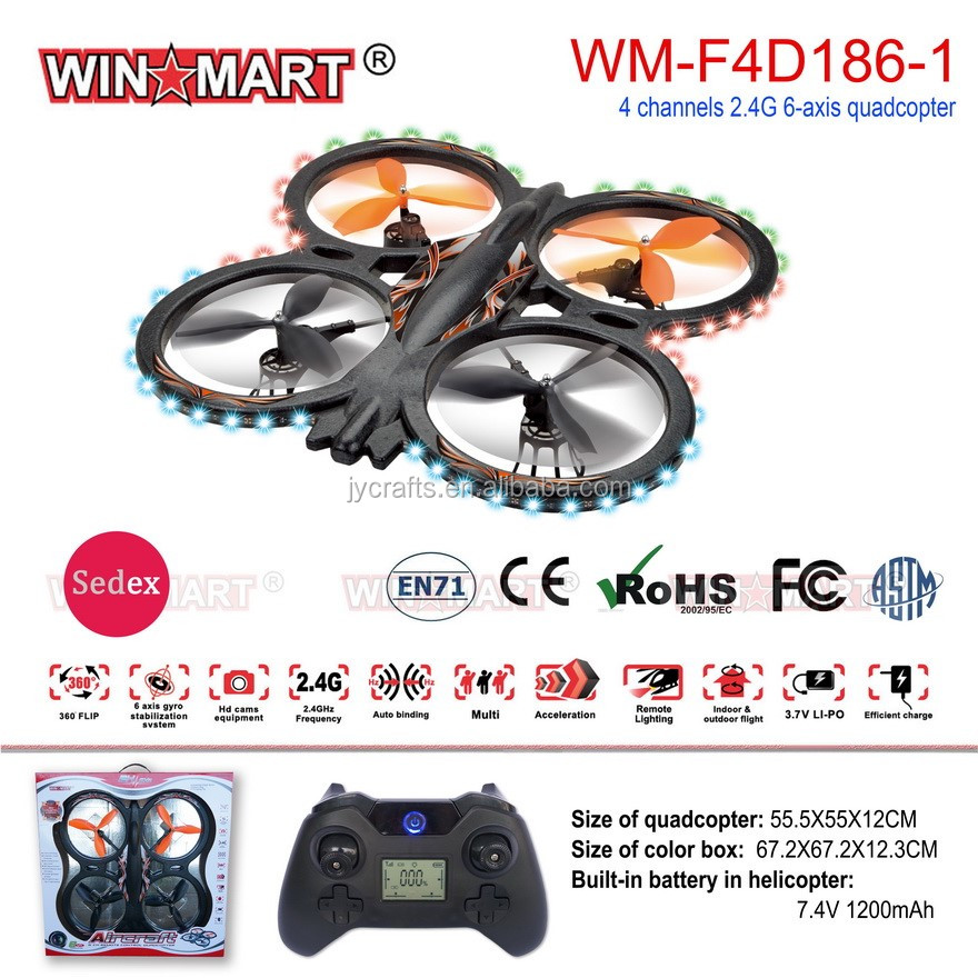 new products big 2.4G outdoor rc drone large rc quadcopter 55cm