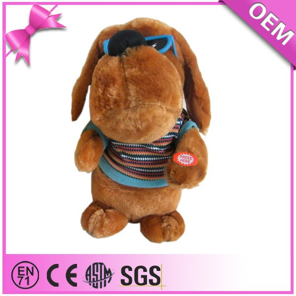 Funny Playing Moving Cool Dog Toys Plush Toy With Music JZZN-DG010