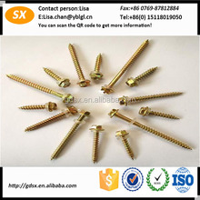 Custom various Nice surface black anodized wood screw/aluminum wood screw