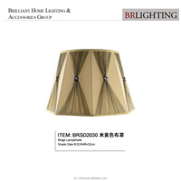 pleated beige fabric lamp shade table lamp shade floor lamp shade