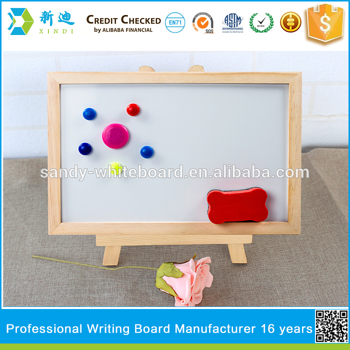 Lanxi xindi surpace quality whiteboard with easel stand for kids