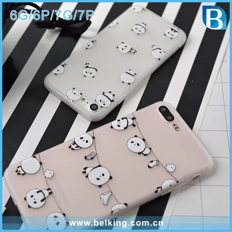 2016 Cartoon Soft Tpu Back Cover For Iphone 6/7S Case Animal Phone Case 6s 7 Design Panda Animal Girl Pattern