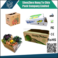 Custom Design Cardboard Boxes! Cardboard Carton for Packaging ! Corrugated Vegetable Carton Box!